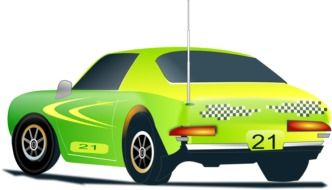 green radio-controlled car