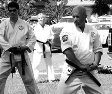 karate in black and white image