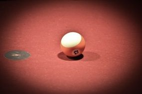 billiard ball with the number thirteen