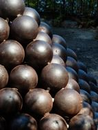 metal cannonballs