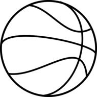 basketball outline ball drawing