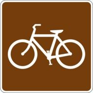 bicycle road sign drawing