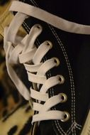 Sneakers with white laces