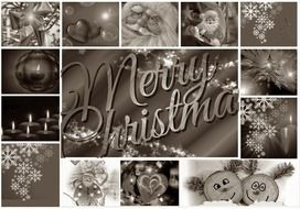 collage merry christmas