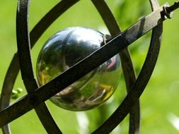 metal ball in the garden