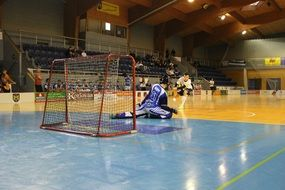 floorball or hockey in the hall