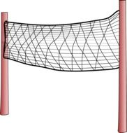 drawn volleyball net