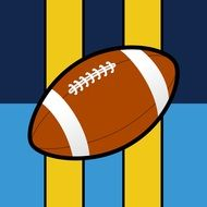 american football ball on colorful background