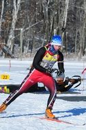 skier on cross country