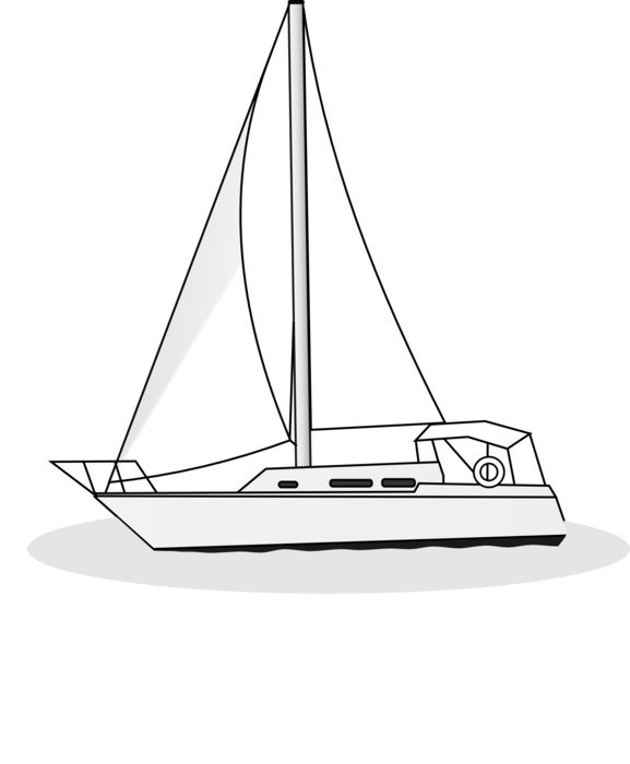 boat yacht sail sport drawing