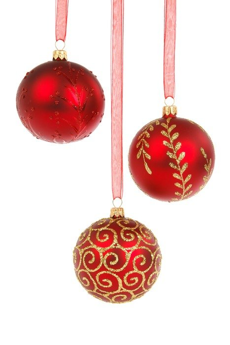 red balls Christmas decoration