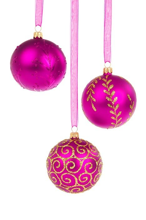 purple balls Christmas decoration