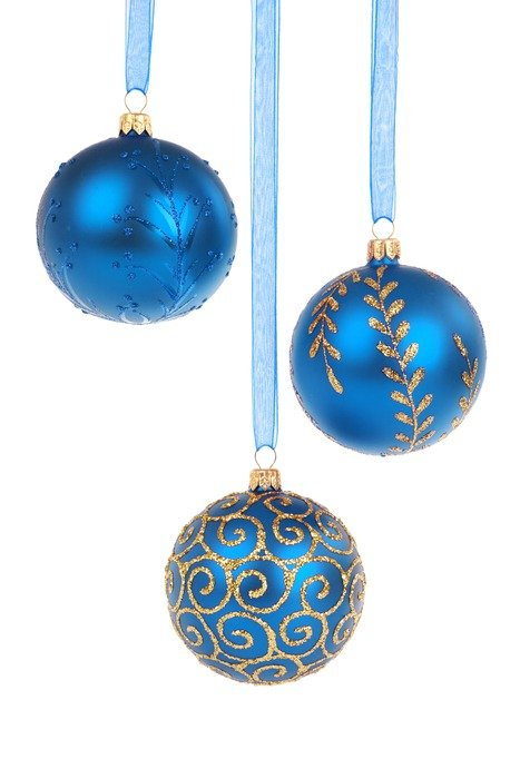 blue balls Christmas decoration