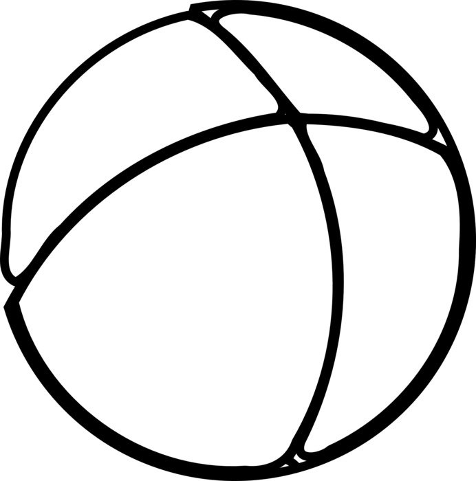 clipart of painted white volleyball