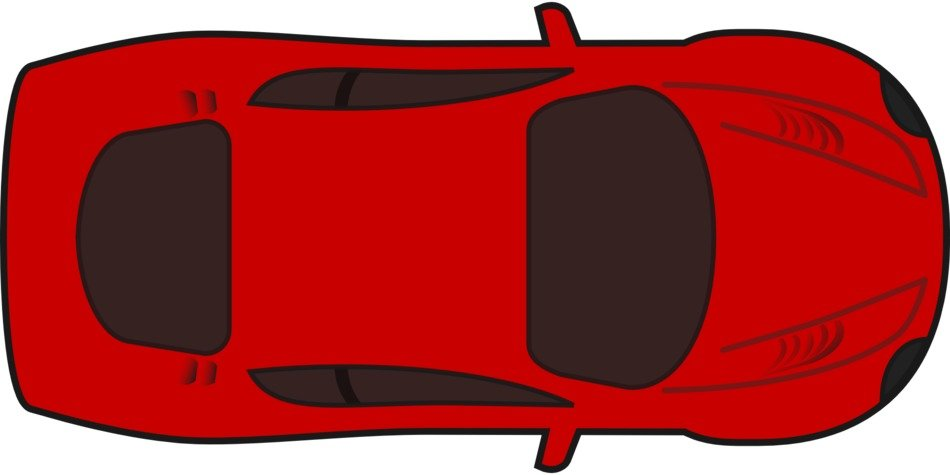 racing red car drawing