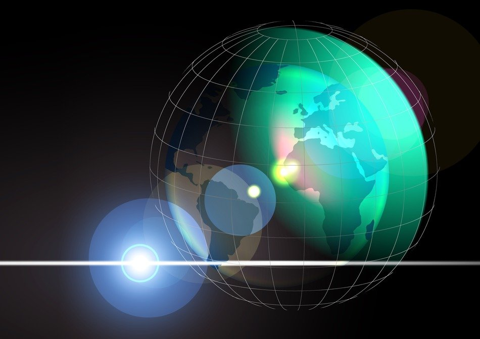 abstract globe the Meridians of the earth 3d drawing
