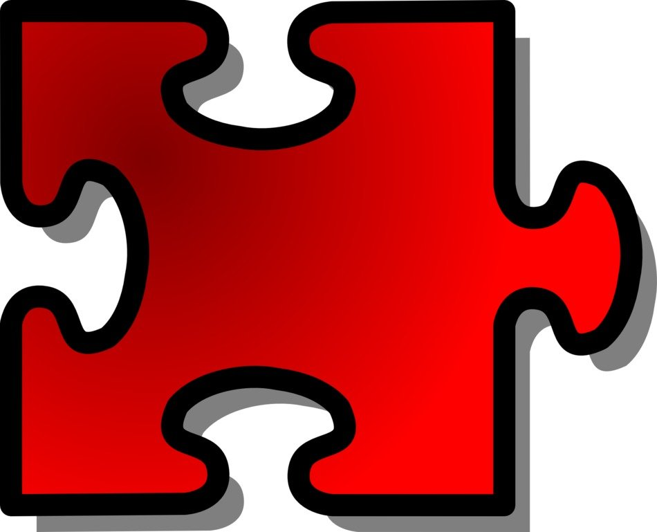 jigsaw puzzle piece red
