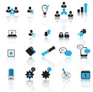 Office and business pictogram set N2