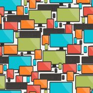 Seamless pattern with electronic devices N3