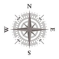 Vector wind rose compass