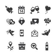 Wedding silhouette icons 2