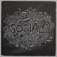 Social Vector hand lettering and doodles elements N2