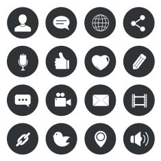 Chat circle Icons vector illustration