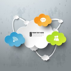 Colorful cloud computing vector illustration N2