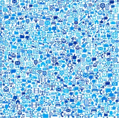 Communication Technology on vector technology pattern Background N2