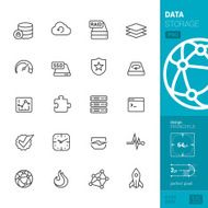 Data storage related vector icons - PRO pack