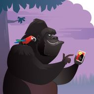 gorilla chatting