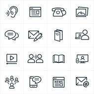 Digital Marketing Icons - Line Style N2