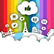 Social Networking World - Vector Design