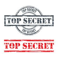 Rubber stamp design TOP SECRET