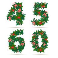 Christmas festive wreath numbers 4 5 6 0