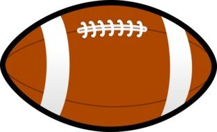 football brown pigskin lace drawing