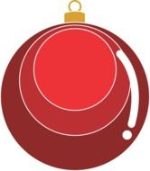 red ball christmas decoration drawing