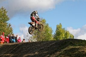 motocross sport in the mud