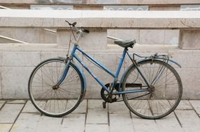 old blue road bicycle