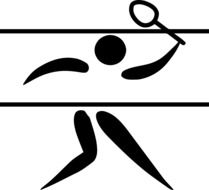 badminton as a pictogram