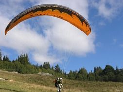 hang glider in the nature of norway
