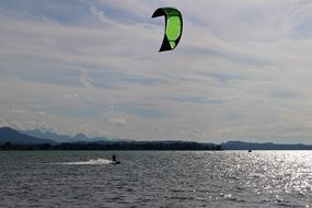 kite surfing dynamic water sports