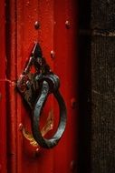 doorknocker red door