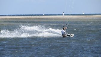 kite-surfer in the water