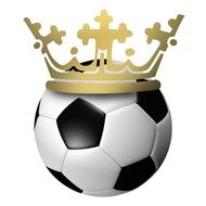 crown on the football ball