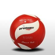 red and white volleyball ball