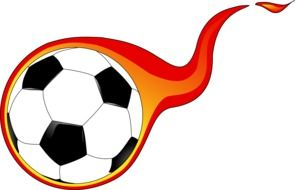 ball soccer in the flaming flame drawing