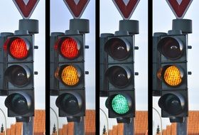 traffic lights with different light signals