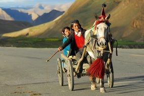 Transport in the mountains of Tibet
