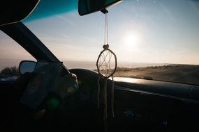 dreamcatcher in the car